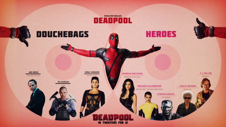 Creative marketing: Deadpool infographic