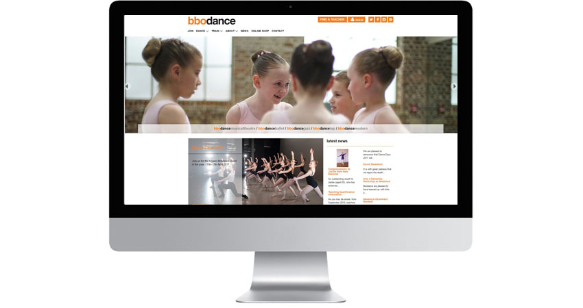 bbodance website screen