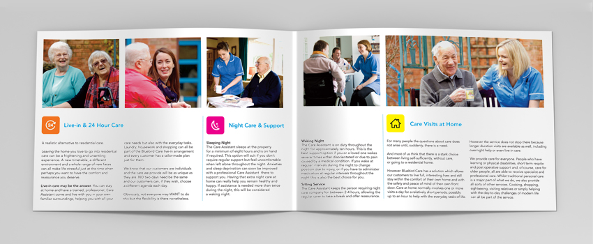 Bluebird Care Marketing Collateral - inner pages