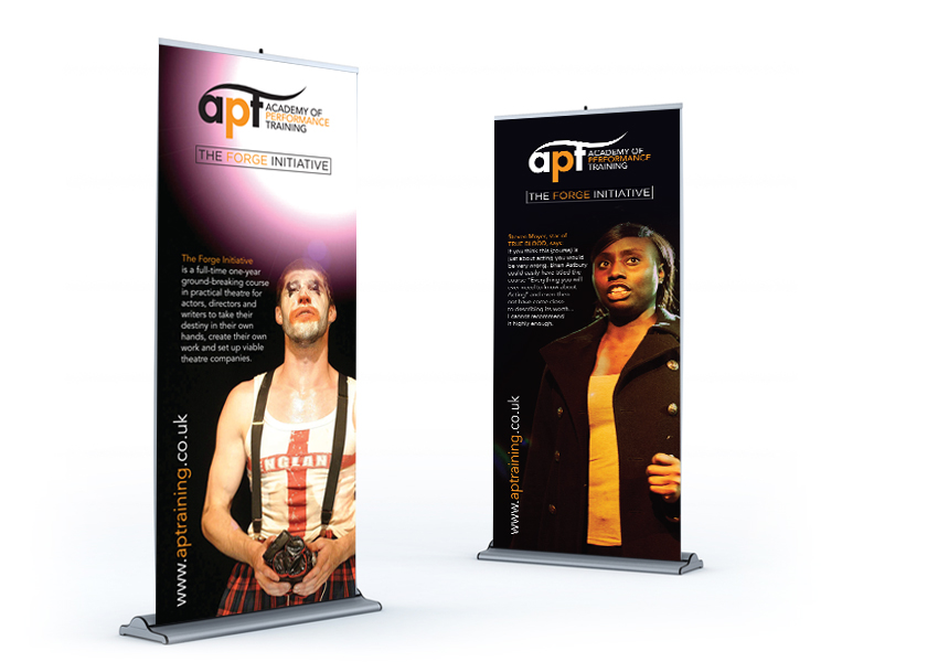 APT Multi-layered marketing: pullup banners