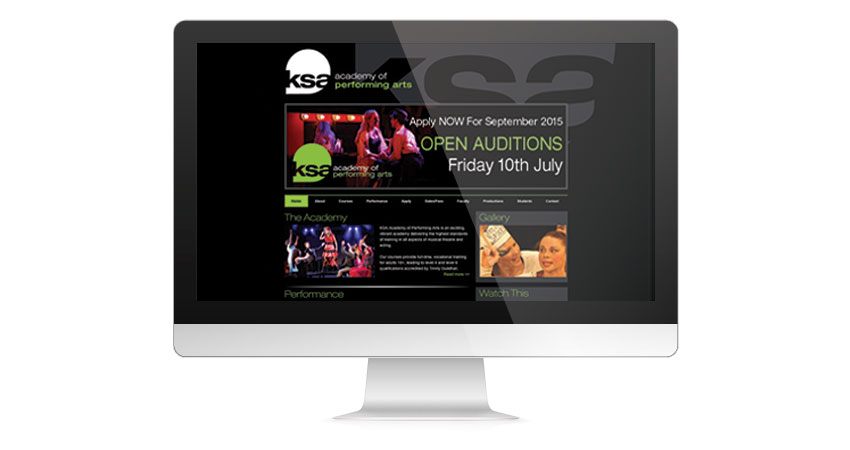 Performing Arts Marketing & Brand Development for KSA Performing Arts, See Website Screenshot 1