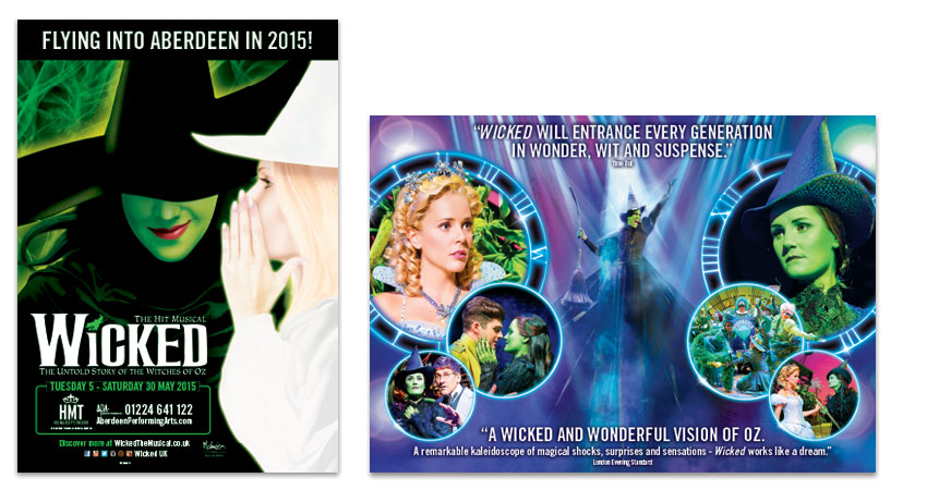 Wicked The Musical - Poster and DL Mailer