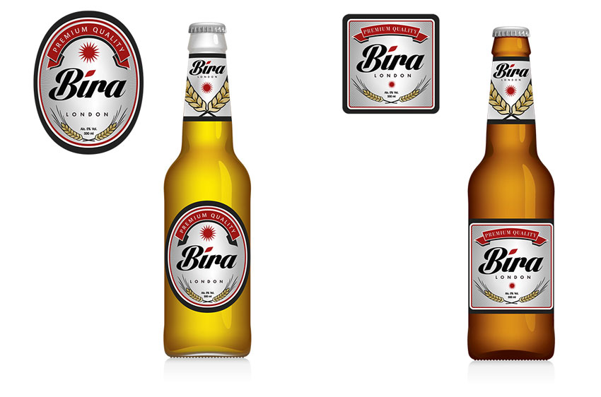 branding bira design selected